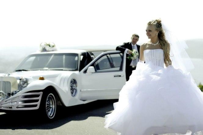 ретро-лимузин на свадьбу